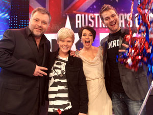 Jack Vidgen winner of Australia's Got Talent 2011 with judges Kyle Sandilands, Dannii Minogue and Brian McFadden