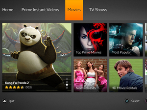 Amazon Instant on PS3 - screenshot