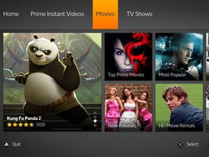 Amazon Instant on PS3 - screenshot