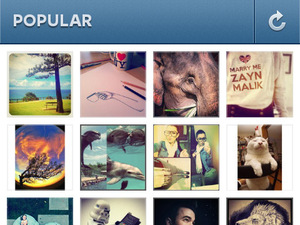 Instagram for Android screenshot - Popular