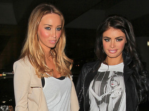 The Only Way is Essex stars Chloe Sims and Lauren Pope finally arrive at LAX after being delayed for three hours following extra security procedures Los Angeles