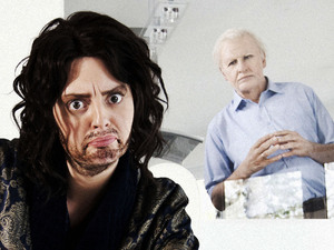 Morgana Robinson and Terry Mynott as Russell Brand and David Attenborough in Very Important People