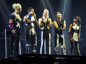 Steps - The Ultimate Tour performing the opening night of their reunion tour at the Odyssey Arena Belfast, Northern Ireland