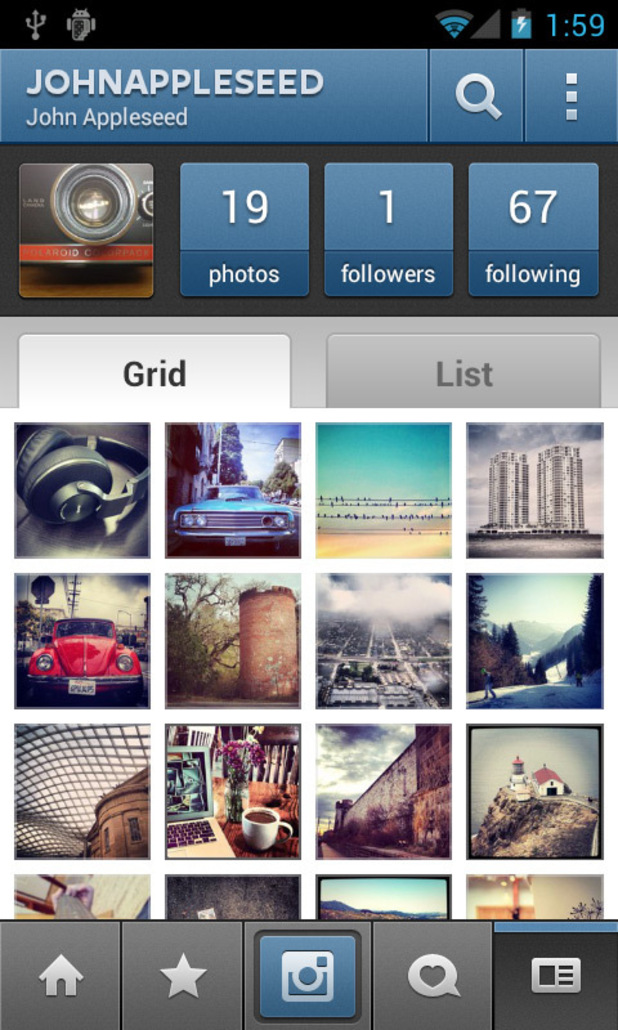 Instagram for Android screenshot - Profile