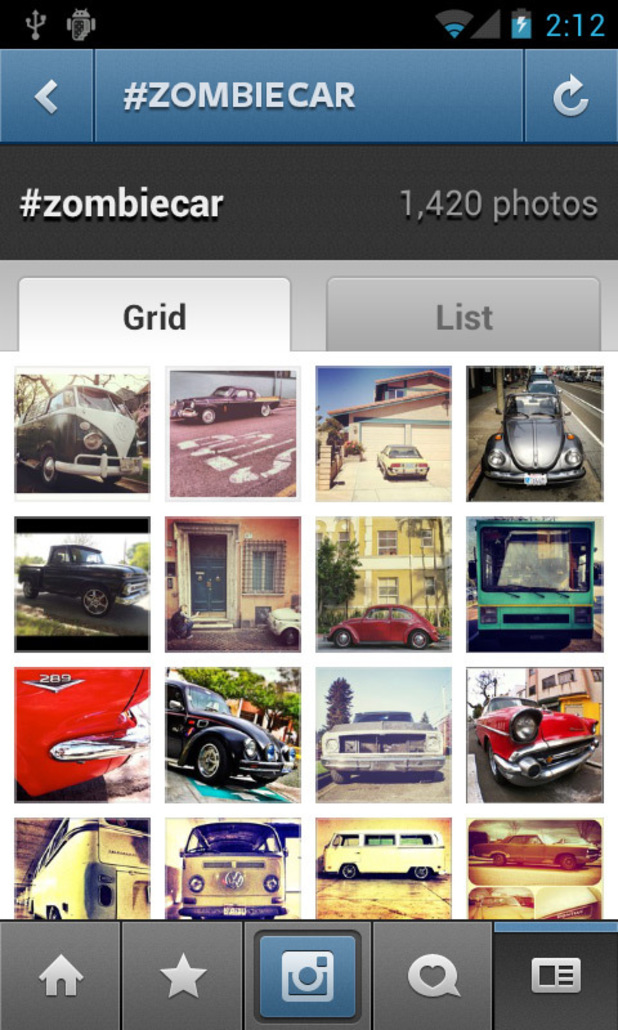 Instagram for Android screenshot - Tag Search