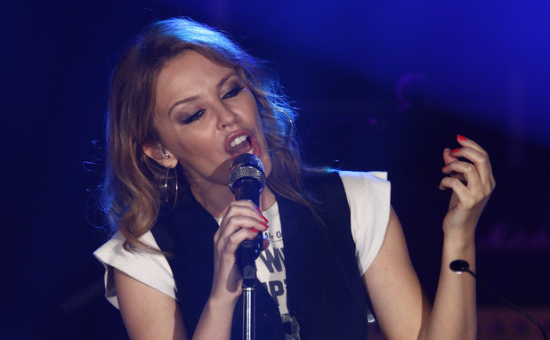 Kylie Minogue performs at the Manchester Academy as part of 'Anti-Tour'