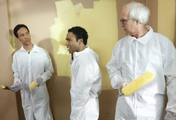 Community, Chevy Chase, Danny Pudi, Donald Glover