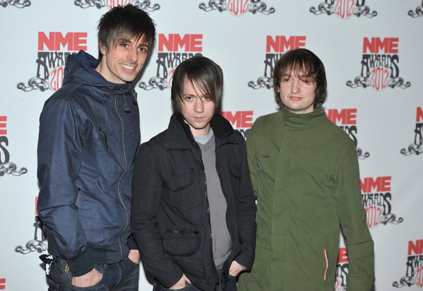 Tom Clarke, Liam Watts and Andy Hopkins of The Enemy NME Awards 2012 held at the O2 Academy Brixton - Arrivals. London, England - 29.02.12 Mandatory Credit: Daniel Deme/WENN.com