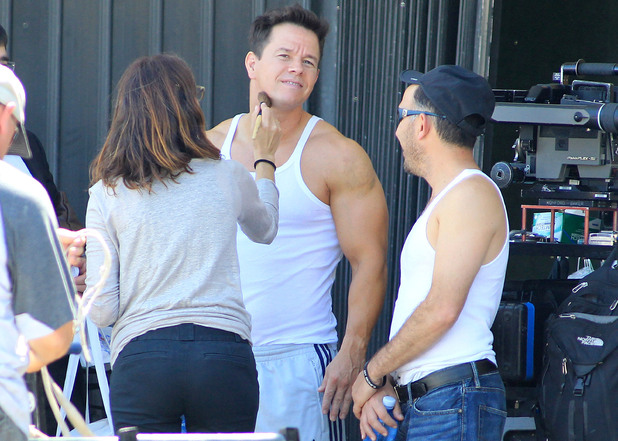 Mark Wahlberg has make-up applied