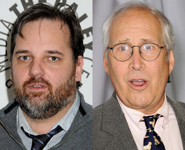 Dan Harmon and Chevy Chase