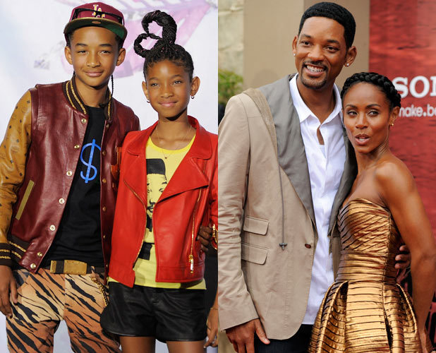 Jaden Smith, Willow Smith, Will Smith and Jada Pinkett Smith