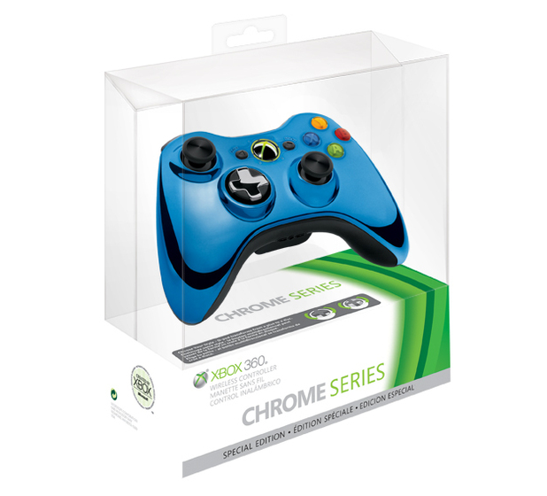 Xbox 360 special edition chrome series wireless controllers xbox 360