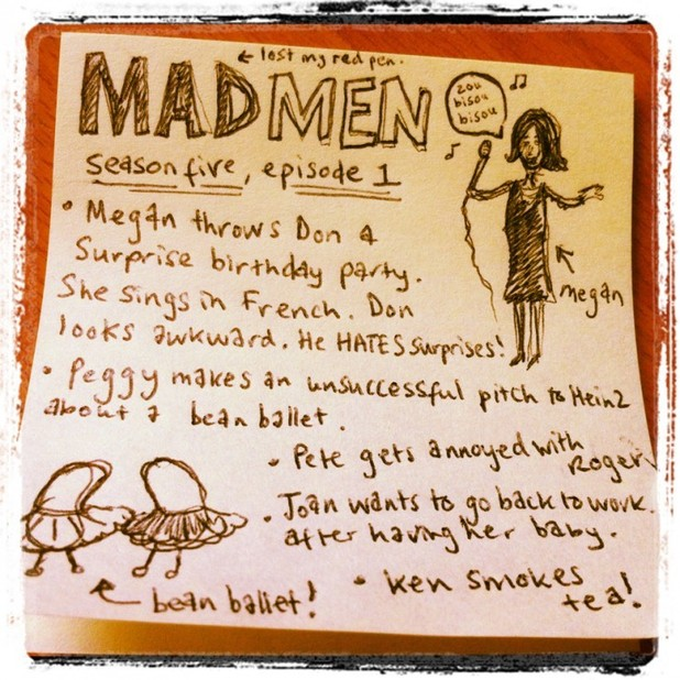 Mad Men Post-It
