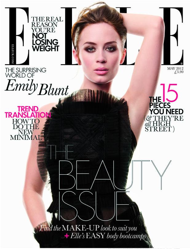 Emily Blunt in Elle