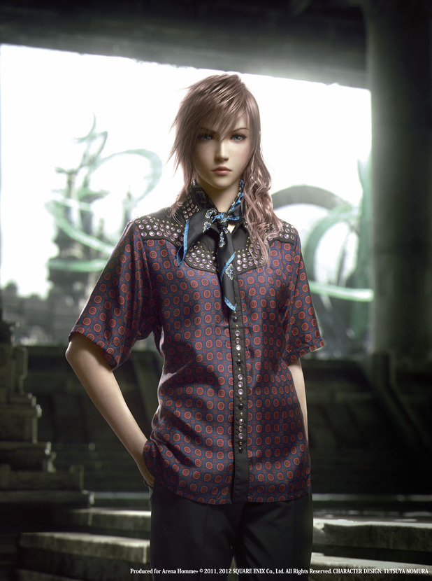 Final Fantasy XIII-2 stars model Prada