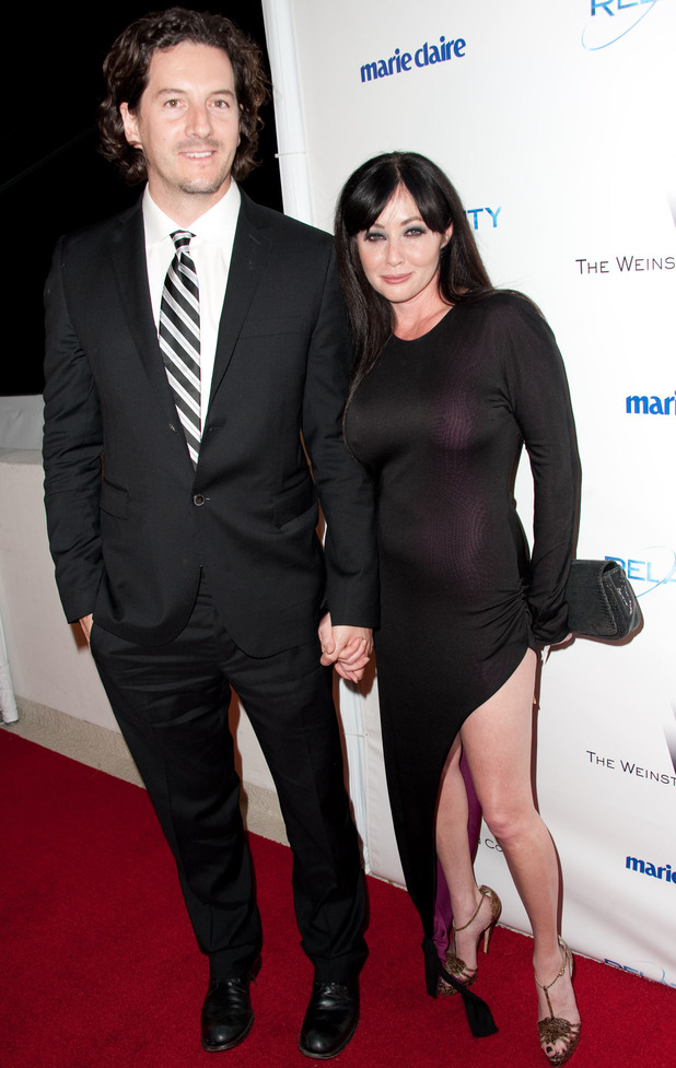 Shannen Doherty and husband Kurt Iswarienko.