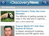 Discovery News, iPhone apps