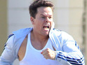 Mark Wahlberg films a chase scene in Miami for new movie Pain and Gain.