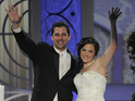 Christina Davidson and Frank Tucci get married on stage at the awards.