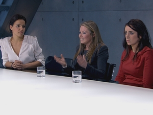 The Apprentice Episode 4: Gabrielle, Laura and Jane in the boardroom
