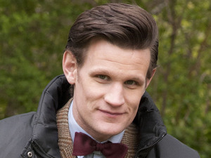 Matt Smith on location in Central Park, filming another episode of 'Doctor Who' New York City