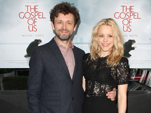 Michael Sheen and girlfriend Rachel McAdams 'The Gospel of Us' gala screening held at the Renoir Cinema - Arrivals London, England