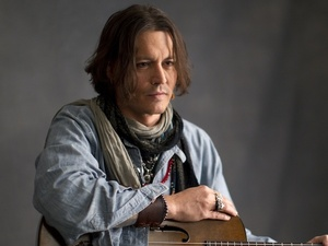 Johnny Depp on the set of Paul McCartney's  new video 'My Funny Valentine'
