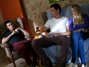 Ally and Amy seem very aware of Ste's intervention.