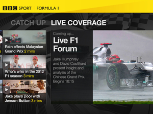BBC Sport on connected TV