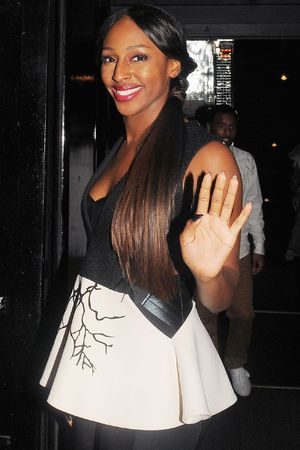 Alexandra Burke leaving the Rose nightclub after launching her new lipstick