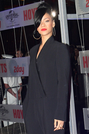 Rihanna The Australian premiere of 'Battleship' held at Luna Park