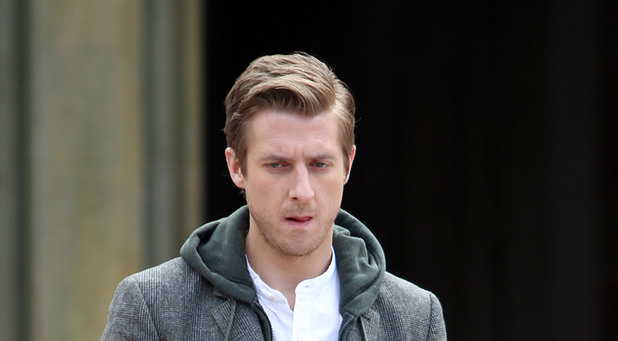 Arthur Darvill filming Doctor Who in Central Park, New York