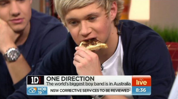 Toast Half-eaten by Niall from One Direction on Sunrise