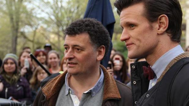 Steven Moffat with Matt Smith