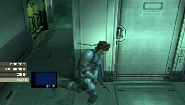 Metal Gear Solid 2 in the Vita version of the MGS HD Collection