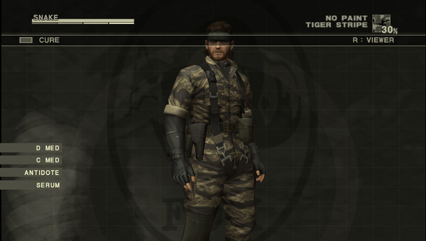 Metal Gear Solid 3 in the Vita version of the MGS HD Collection
