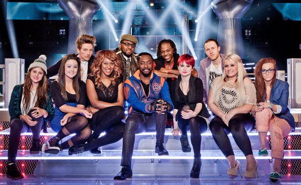 Will.i.am and his Battle Round team