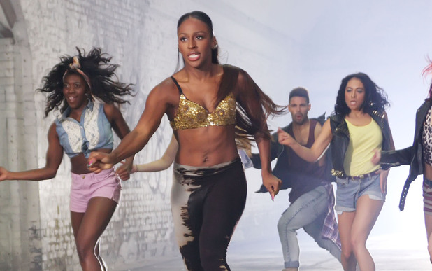 Alexandra Burke films a video for her new single 'Let It Go' in an underground car park in London