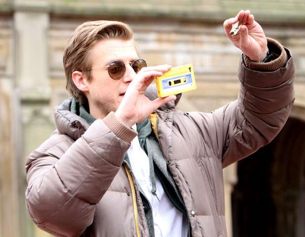 Arthur Darvill with a peg