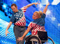 Paula and Gary from Manchester impress with their wheelchair act.