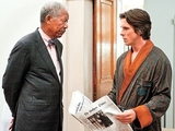 The Dark Knight Rises, Morgan Freeman, Christian Bale