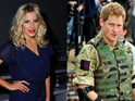 The singer ignores questions about her alleged relationship with Prince Harry.