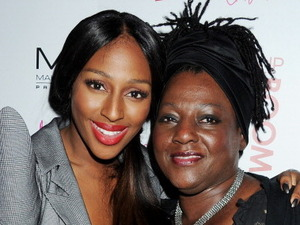 Alexandra Burke and her mother Melissa Bell