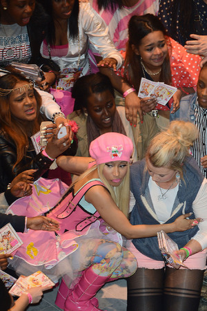 Nicki Minaj signs copies of her new album 'Pink Friday: Roman Reloaded' at HMV. London, England - 19.04.12Mandatory Credit: Tony Clark/WENN.com