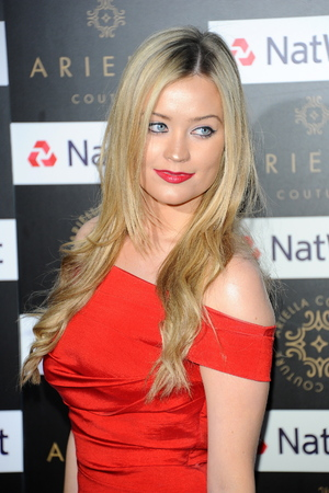 Laura Whitmore at the Ariella Couture Catwalk Show, London