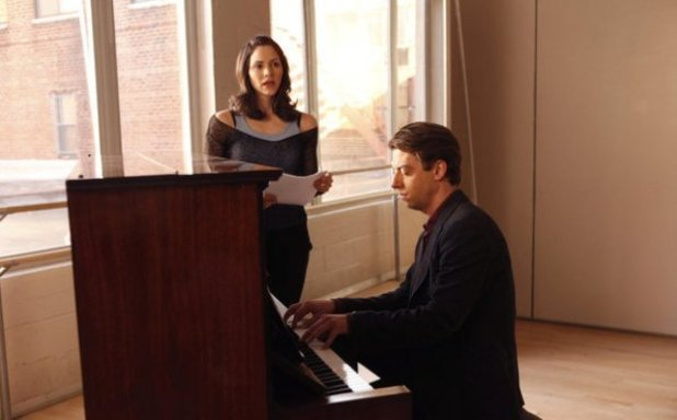 Katharine McPhee as Karen Cartwright, Christian Borle as Tom Levitt