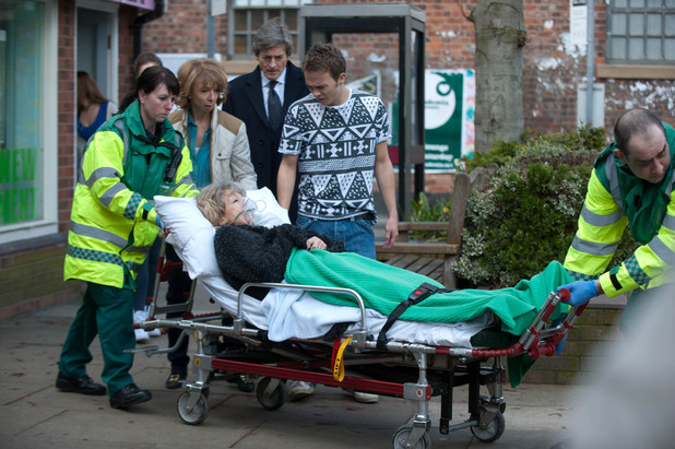 Audrey is rushed to hospital