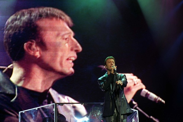 Thousands of fans join The Bee Gees in 1998 as they celebrated 30 years at the top of the charts with a world tour