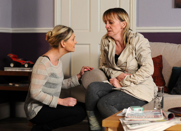 Mandy realises Lorraine is unwell.
