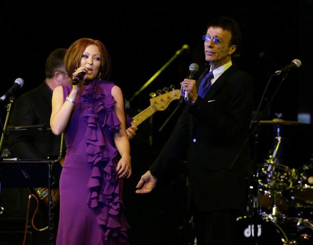 Robin Gibb and Natasha Hamilton